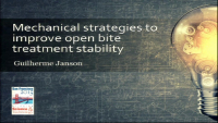 Mechanical Strategies to Improve Open Bite Treatment Stability
