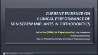 Current Evidence on Clinical Performance of Miniscrew Implants in Orthodontics