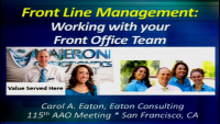 Front Line Management: Working with Your Front Office Team