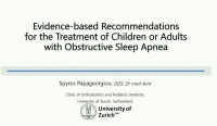 Evidence-based Recommendations for the Treatment of Children or Adults with Obstructive Sleep Apnea