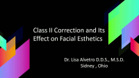 Class II Correction and its Impact on Facial Esthetics