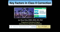 Key Factors in Class II Correction