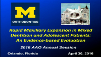 Rapid Maxillary Expansion in Mixed Dentition and Adolescent Patients: An Evidence-based Approach