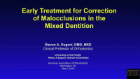 Early Treatment for Class II Malocclusions
