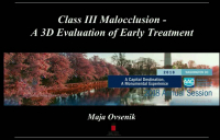 Class III Malocclusion: An Evaluation of Early Treatment