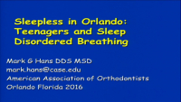 Sleepless in Orlando: The Orthodontist's Guide to Teenagers and Sleep
