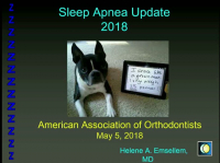 Sleep Apnea: Diagnostic Challenges, Treatment Strategies & New Concepts