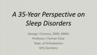 A 35-Year Perspective on Sleep Disorders