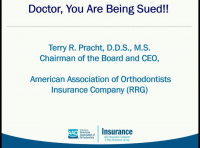 Risk Management for Orthodontists (Course #2): Doctor, You are About to be Sued and You Could Have Avoided It