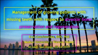Alveolar Bone Preservation & Regeneration in Growing Patients with Missing Teeth
