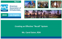 "Creating an Effective ""Recall"" System"