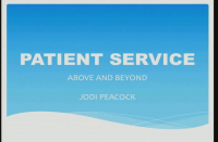 Patient Service Above and Beyond