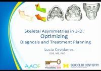 2013 Annual Session - Skeletal Asymmetries in 3-D: Optimizing Diagnosis and Treatment Planning / The Why, What, Who, How and When of CBCT in Clinical Orthodontics