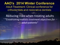 2014 AAO Winter Conf - Establishing Realistic Treatment Objectives for Adult Patients / Limiting your Risk when Treating Patients with TMD