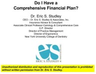 2016 AAO Webinar - Do I Have a Comprehensive Financial Plan?