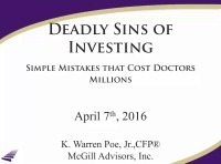 2016 AAO Webinar - Deadly Sins of Investing - Simple Mistakes that Cost Doctors Millions