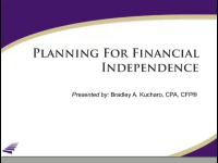 2015 Webinar – Planning for Financial Independence