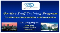 2008 Annual Session - Certification Responsibility With Recognition