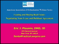2013 AAO Webinar - Leasing Your Office and Negotiating Your Build-Out