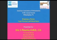 2013 Annual Session - Dismissing a Patient: Legal, Practical and Ethical Issues icon