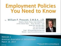 2014 AAO Webinar - Employment Policies You Need To Know ?
