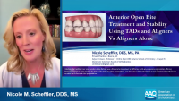 Anterior Open Bite Treatment and Stability Outcomes Using TADs and Aligners vs Aligners Alone