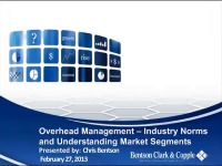 2013 AAO Webinar - Overhead Management - Industry Norms and Understanding Market Segments