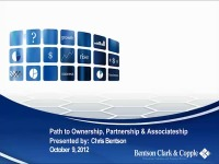 2012 AAO Webinar - Path to Ownership, Partnership, Associateship