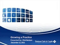 2012 AAO Webinar - Growing a Practice