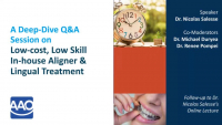 Deep Dive Q&A on In-house Aligner & Lingual Appliance Production