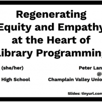 Regenerating Empathy and Equity at the Heart of Library Programming