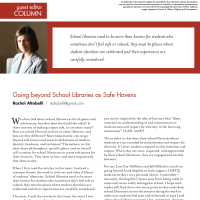 Guest Editor Column: Going beyond School Libraries as Safe Havens (Volume 48, No.3, pgs 6-7)