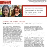 Guest Editor Column: Journeying with the AASL Standards (Volume 47, No. 5, pgs 6-7)