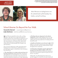 Guest Editor Column: School Libraries Go Beyond the Four Walls (Volume 47, No. 4, pgs 6-7)