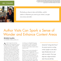 CBC Column: Author Visits Can Spark a Sense of Wonder and Enhance Content Areas (Volume 47, No. 4, pgs 70-72)