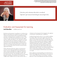Guest Editor Column: Evaluation and Assessment for Learning (Volume 47, No. 3, pgs 6-7)