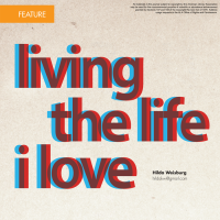 Living the Life I Love (Volume 47, No. 2, pgs 8-14)