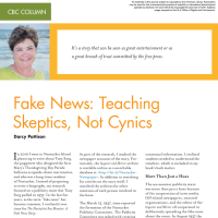 CBC Column: Fake News: Teaching Skeptics, Not Cynics (Volume 47, No. 1, pgs 62-64)