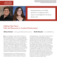Guest Editor Column: Fighting Fake News: Tools and Resources to Combat Disinformation (Volume 47, No. 1, pgs 6-7)