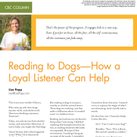 CBC Column: Reading to Dogs—How a Loyal Listener Can Help (Volume 46, No.4, pgs 70-72)