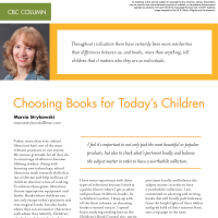 CBC Column: Choosing Books for Today's Children (Volume 48, No.4, pgs 50-52)