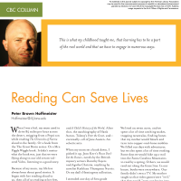 CBC Column: Reading Can Save Lives (Volume 45, No. 5, pgs 54-56)