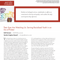 Guest Editor Column: Their Eyes Are Watching Us: Serving Racialized Youth in an Era of Protest (Volume 45, No. 3, pgs 6-8)