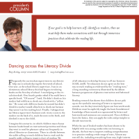 President's Column: Dancing across the Literacy Divide (Volume 48, No.5, pgs 4-5)