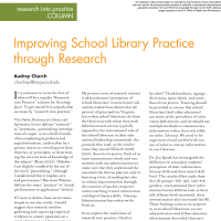 Research into Practice Column: Improving School Library Practice through Research  (Volume 49, No.1, pgs 52-53)