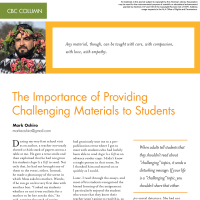 CBC Column: The Importance of Providing Challenging Materials to Students  (Volume 49, No.1, pgs 54-56)