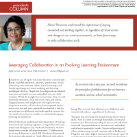 President's Column: Leveraging Collaboration in an Evolving Learning Environment (Volume 49, No.2, pgs 4-5)