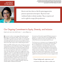 President's Column: Our Ongoing Commitment to Equity, Diversity, and Inclusion (Volume 49, No.4, pgs 6-7)