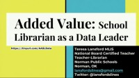 Added Value: School Librarian as Data Leader