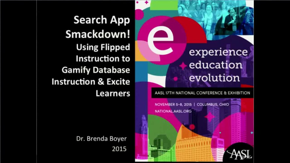 Search App Smackdown Using Flipped Instruction To Gamify Database